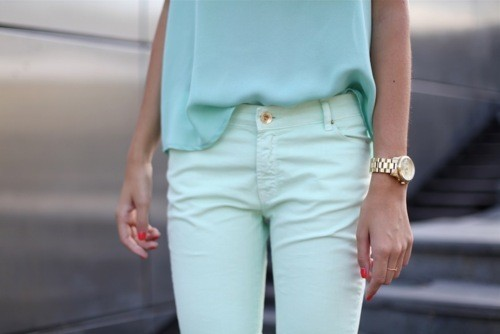 blue, fashion, pastel colors, pastel teal, skinnies