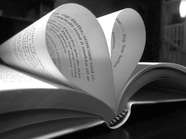 book, heart, love, read