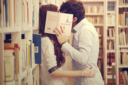 books, boy, couple, cute, girl