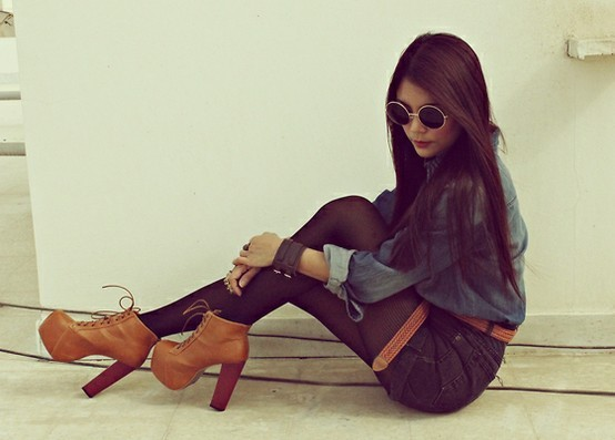 boots, fashion, jefrey campbell, style, sunglasses