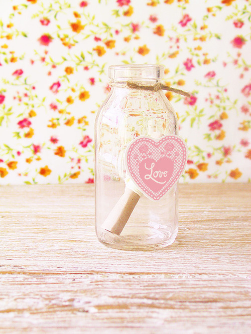 bottle, heart, letter, love