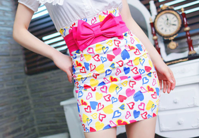 bow, colorful, colors, cute, dress, fashion, girly, pink, skirt, style