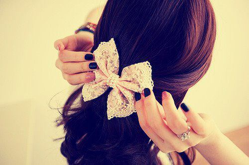 bow, hair, lace, photography