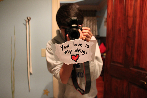boy, camera, photo, text