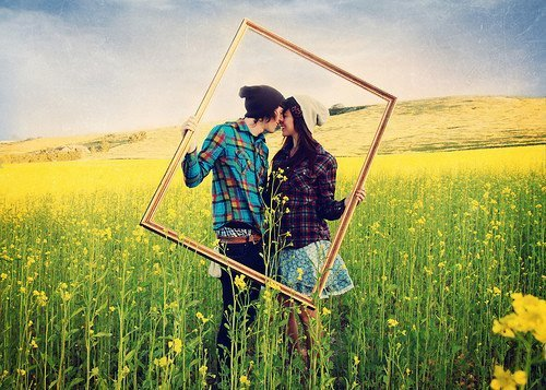 boy, couple, cute, frame, girl