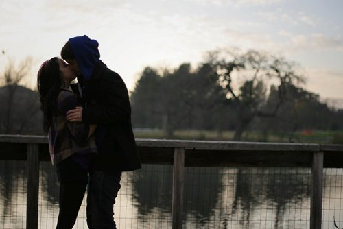 boy, couple, girl, kiss, love