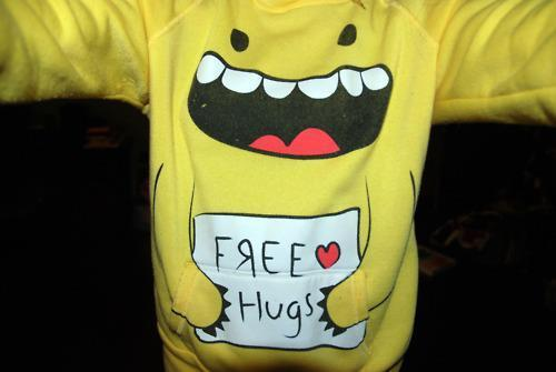 boy, cute, free, hugs, life, monster, people, quotes, yellow