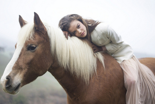 boy, girl, hipster, horse, love