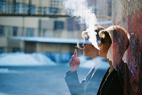 boy, photography, smoke, smoking