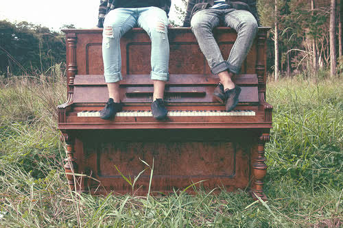 boys, cute, field, hipster, piano