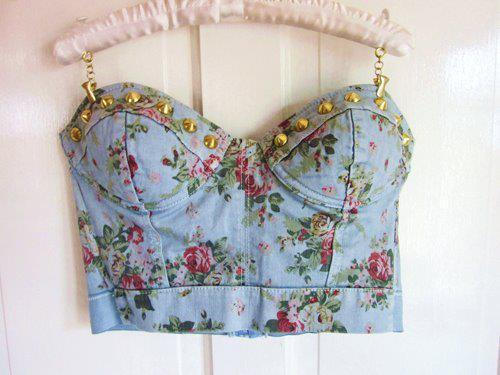 bra, cute, fashion, floral, floral pattern