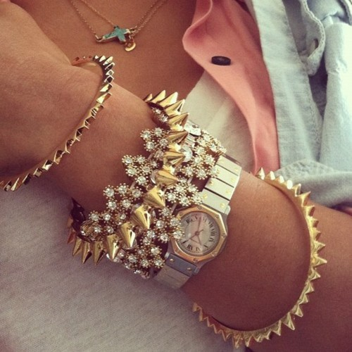 bracelets, fashion, gold, jewelry, necklace