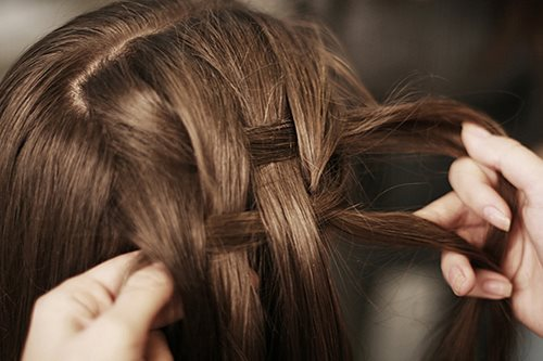 braid, brown, hair