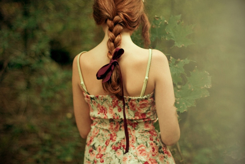 braid, girl, hair, nature, red