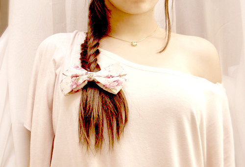 braid, girl, hair, photography, ribbon