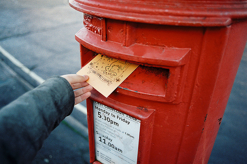 britain, british, england, grain, grains, grainy, hipster, indie, letter, letters, mail, photography, post box, red, vintage