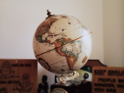 brown, earth, globe, vintage, world