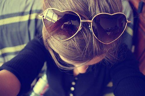 brown, hair, love, sunglasses