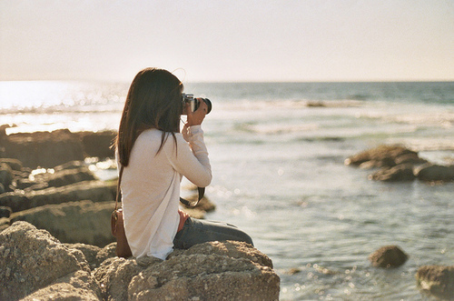 brunette, camera, fashion, girl, lake, mode, model, nikon, ocean, photo, picture, pretty, sea, sun, sunset, waves