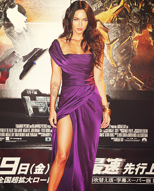 brunette, dress, elegant, eyes, gorgeous, hair, hot, lips, megan fox, sexy, skinny, tattoo
