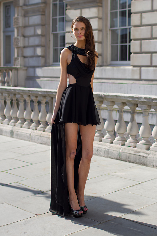 brunette, dress, fashion, girl, little black dress