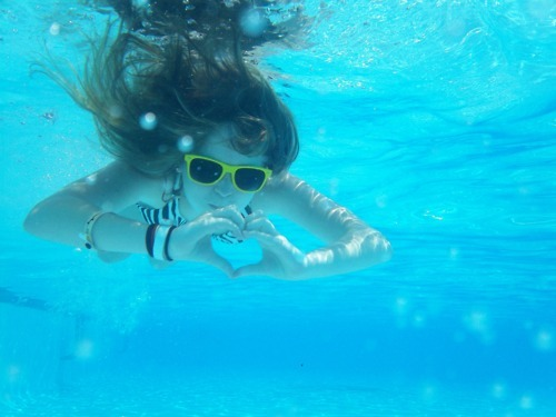 brunette, girl, heart, love, sea, summer, water