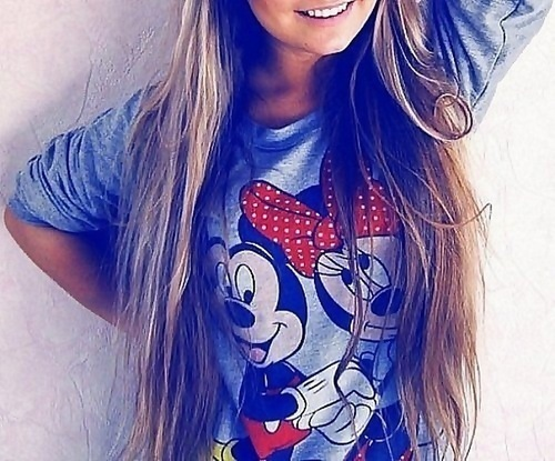 brunette, girl, mickey mouse, minnie mouse, summer