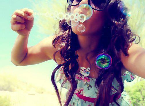 bubble, bubbles, cute, girl, hair