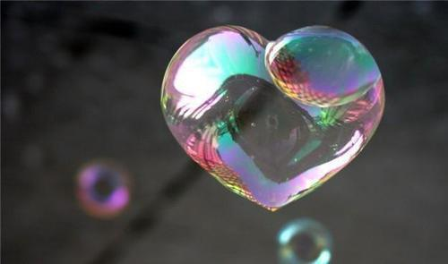 bubble, heart, love