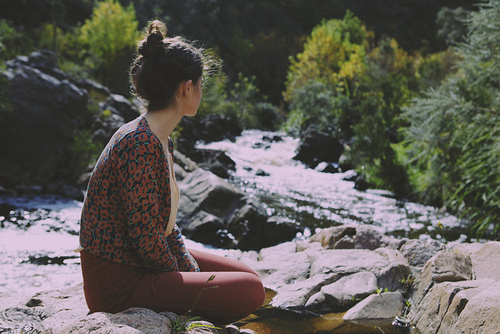 bun, cute, fashion, girl, hair, indie, outdoors, photography, pretty, vintage