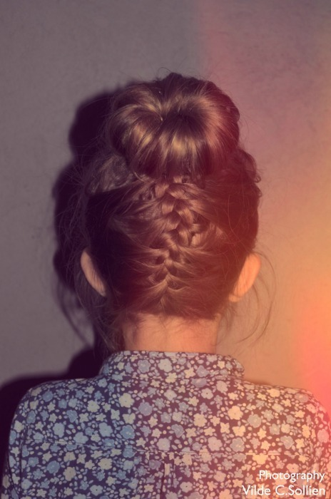 bun, girl, hair