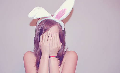 bunny, cute, girl