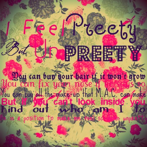 but un preety, cute, girly, glee, pink, preety, quotes, vintage flower