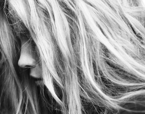 b/w, blonde, girl, hair