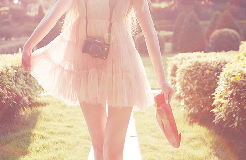 camera, dress, fashion, girl, nature, photography, pretty