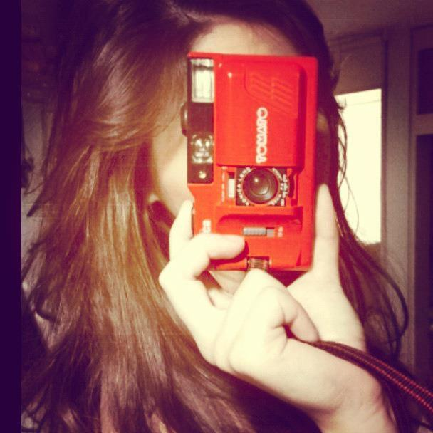 camera, girl, hair, hands, old