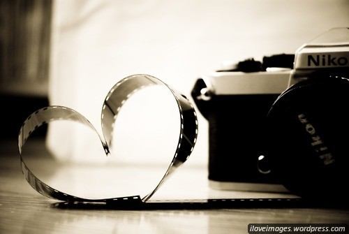 camera, heart, photography