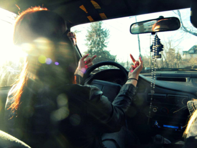 car, cross, cute, driving, finger