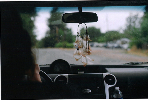 car, dream catcher, indie, lomo, lomography