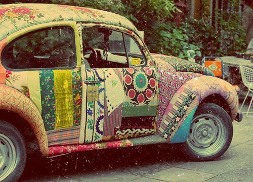 car, flowers, happiness, hippie, hippieage