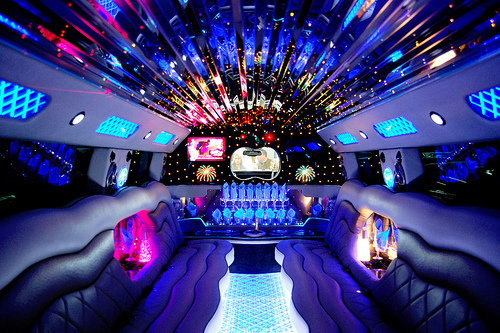 car, lights, limo, luxury, party