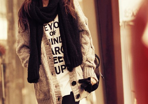 cardigan, girl, photography, scarf