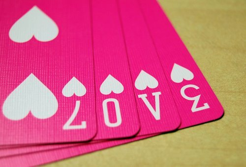 cards, heart, love, pink