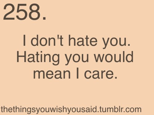 I Dont Care If You Hat...