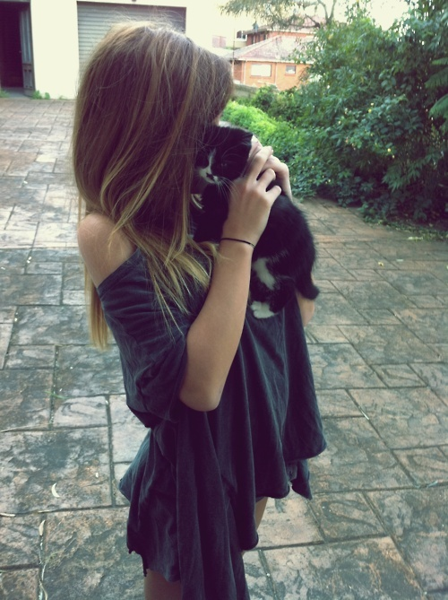 cat, cute, girl