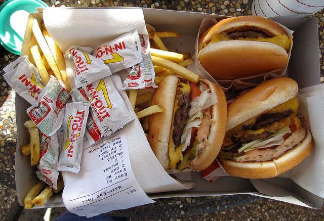 cheeseburguer, food, in n out