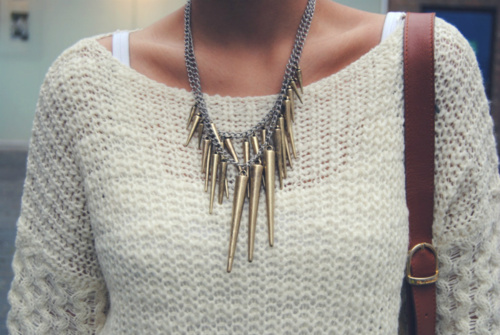chic, fashion, look, neckelace, pretty