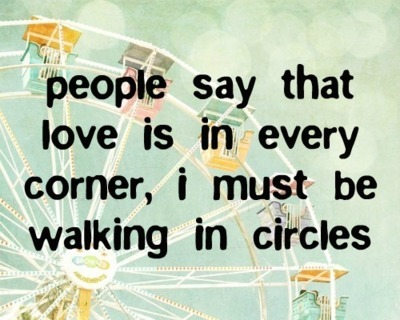 circles, corner, ferris wheel, love, people, quote, walking