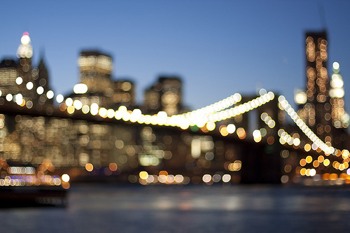 city, lights, new york