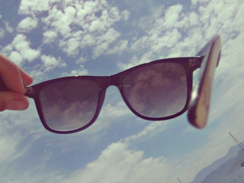 cloud, glasses, sky, vintage, wayfarer